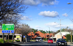 Main township of Nuriootpa on Barossa Valley Way highway Stock Photos