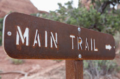 Main Trail Sign Stock Images