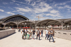 Main Train Station in Cologne, Germany Stock Images