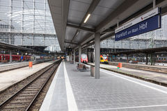 Main Train Station in Frankfurt Main Royalty Free Stock Photos