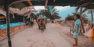 Cidomo. The main transportation in Gili Terawangan, Lombok, Indonesia Stock Photos