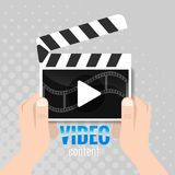 Main types of video content, video window Stock Photos