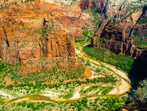 Main Valley of Zion National Park Stock Photography