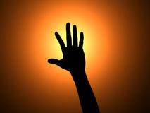 Main vers le haut Image libre de droits