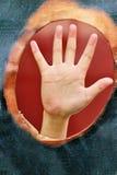 Main vers le haut pour l'aide Photo libre de droits