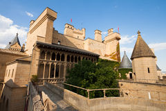 Main view of Castle Olite, Navarre Stock Photos