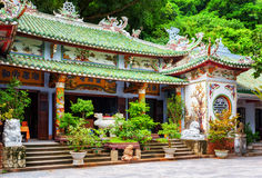 Main view of the Linh Ung Pagoda, the Marble Mountains, Vietnam Stock Images