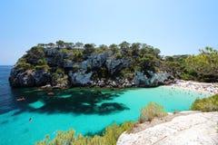 Main view of `Macarelleta` beach, one of the most beautiful spots in Menorca, Balearic Islands, Spain Stock Photo