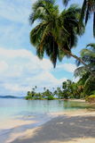Main View Of The Southern Beach At Pelicano Island In Panama. Royalty Free Stock Photo