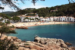 Main view of Tamariu beach and village. This is one of the most wonderful spots of the Spanish mediterranean seaside Stock Photo