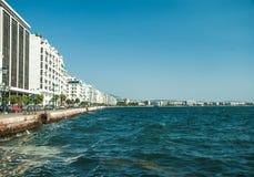 Main view on Thessaloniki embankment Stock Photography