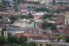 The main  view of Vilnius Old town, Lithuania Royalty Free Stock Photography