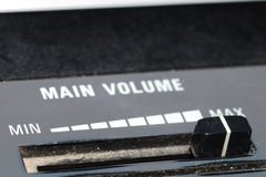 Main volume loudness Royalty Free Stock Photography
