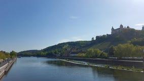 Main, Würzburg. Main in Würzburg, April 2018 stock images