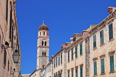 Main walking street in Dubrovnik, Croatia Stock Photos