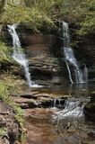 Main waterfall at Pwll-y-Wrach Stock Images