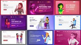Main Web Page Design Vector. Website Business Screen. Landing Template. Innovation Idea. Office Investment Webpage. Main Web Page Set Design Vector. Website Stock Image