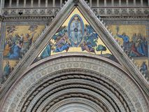 Main west portal  and  the Assumption of Mary - Or Stock Photography