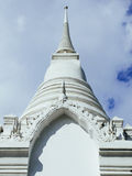 Main White chedi with European style of royal cemetry at Wat Ratchabopit Royalty Free Stock Images