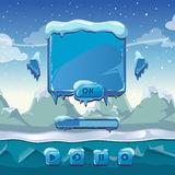Main winter game menu Royalty Free Stock Photos