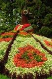 Mainau Floral Peacock. Mainau Botanical Gardens near Konstanz, Germany royalty free stock photo