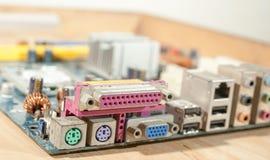 Mainboard Backpanel порт LPT и PS2 Стоковые Фото