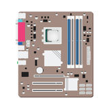Mainboard computer concept by mainboad is ATX try Royalty Free Stock Photos