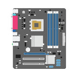 Mainboard computer concept by mainboad is ATX try Stock Photography
