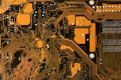 Mainboard del circuito de ordenador Foto de archivo libre de regalías