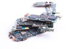 Mainboard del telefono cellulare isolato Immagine Stock