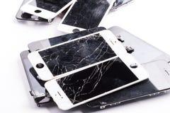 Mainboard del telefono cellulare isolato Fotografie Stock