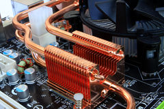Mainboard detail - cooling elements Stock Image