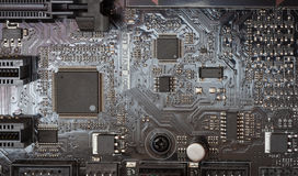 Mainboard di un computer Fotografia Stock Libera da Diritti