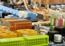 Mainboard do computador Fotografia de Stock