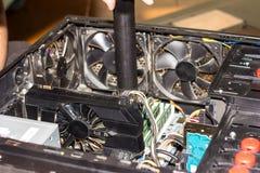 Mainboard do computador para dentro Fotografia de Stock
