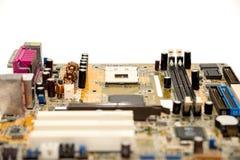 Close up of electronics circuit board A mainboard  Main board,cpu motherboard,logic board,system board or mobo board Stock Image