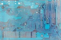 Mainboard o scheda madre del computer con il dettaglio di alta risoluzione Fotografie Stock
