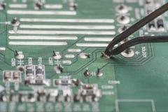 Mainboard soldering Stock Image