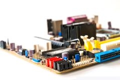 Mainboard velho Fotos de Stock Royalty Free