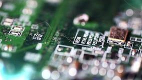 Mainboardmotherboard dichte omhooggaande cameraaandrijving stock videobeelden
