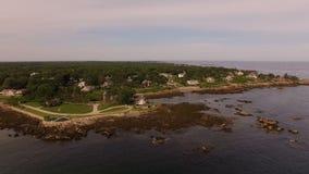 Maine Aerial Coastline Homes almacen de video