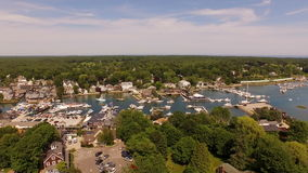 Maine Aerial Kennebunkport stock footage