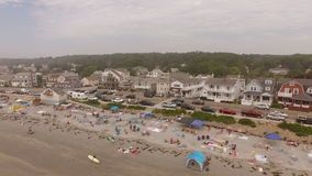 Maine Aerial York Beach stock video footage