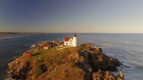 Maine Aerial York Sunset stock footage
