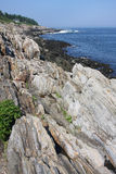 Maine Atlantic Ocean Coast. View of the rocky coast of Maine and the Atlantic ocean at Land'd End point Stock Photography