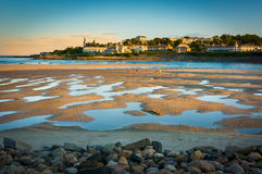 Maine Beach at Low Tide Stock Photography
