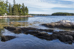 Maine Coast Royaltyfria Foton