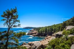 Maine Coast. Rocky cliffs on the coast of Maine Royalty Free Stock Images