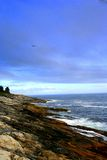 Maine Coastline. View of Maine coastline with waves hitting shore Royalty Free Stock Photos