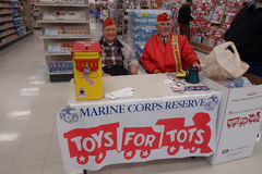 MAINE CORPS RESERVE FOR TOYS FOR TOTS Stock Images